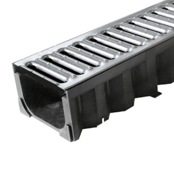 ACO HexDrain Galvanised Steel Grating Channel
